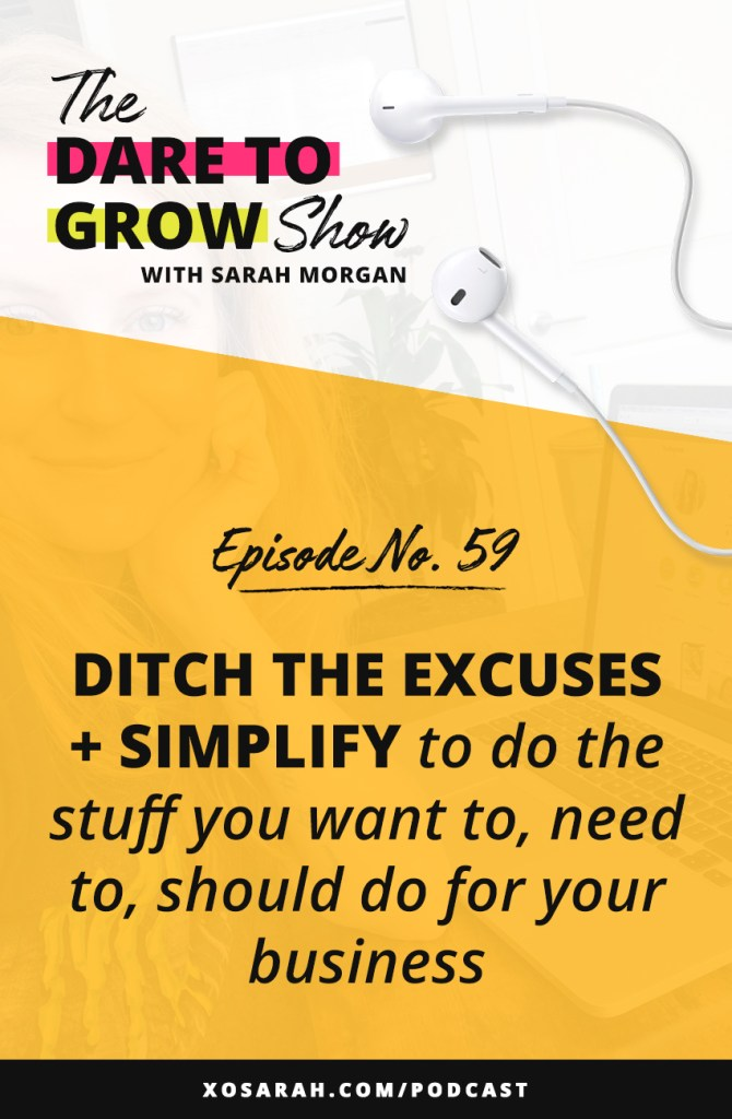 "More tasks and ideas on your to-do list than you have time for? Most of us have a list a mile long of things we would do, should do, really want to do but can't figure out where in our jam-packed schedules to fit another thing. So today on The Dare to Grow Show we're talking about finding space, making space, and fitting in those priorities, whether they be personal or business. So you can stop having the ""shoulds"" and start making space for what matters."