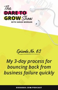 Trying to recover and bounce back from a business failure? Here's my 3-day process to rebound quickly without letting failure slow you down, crush your confidence, or knock you off your game.