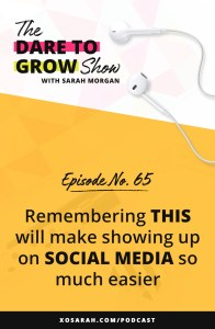 """Hey Solopreneur, How many times a week do you think about posting on social media, showing up live on Iestagram, sending an email to your audience and...you don't. You worry about sharing the right things, other people in your niche doing similar stuff, what your friends and family will think about your """"little business."""" Well my friend - it's time to get over that and remembering THIS one thing will help make it easier."""
