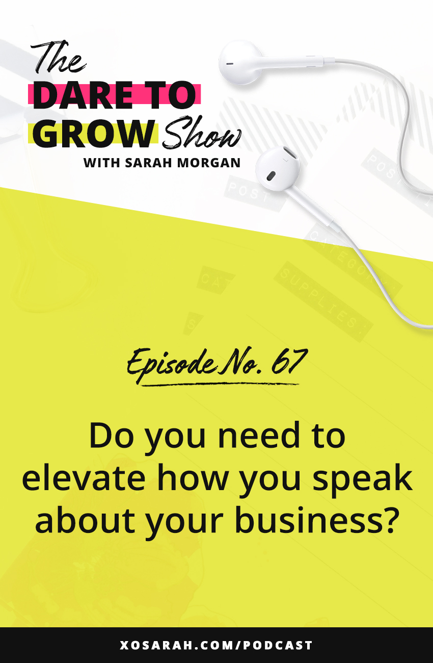 Hey solopreneur - how do you describe what you do? Not just your niche, but your title and the impact your business could have. And do you think elevating those could help you show up with more passion, excitement, and consistency?