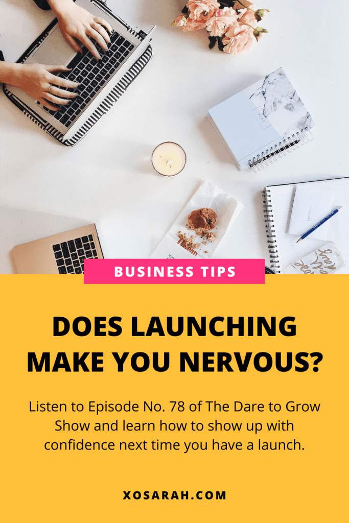 Would you like to learn how to show up with confidence the next time you launch a new product or service in your online biz? XOSarah.com
