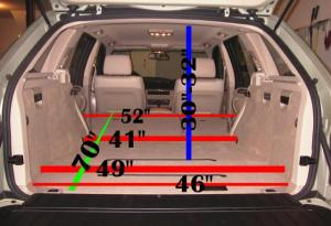 E53 Rear cargo space information and picture  Xoutpost