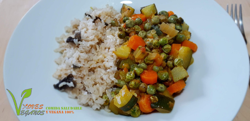 Curry de guisantes frescos