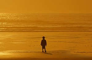 Child in Sunset