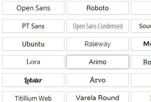A couple of Google Font fonts