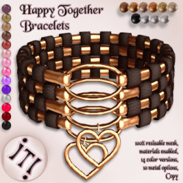 !IT! - Happy Together Bracelets http://maps.secondlife.com/secondlife/Jewelry/223/182/37