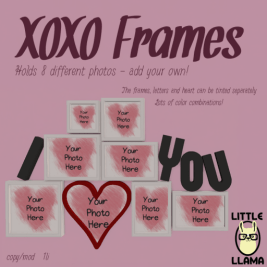Little Llama - XOXO Frames http://maps.secondlife.com/secondlife/Butterfly%20Beach/70/80/23
