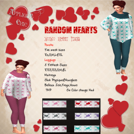 Applique Chic - Random Hearts http://maps.secondlife.com/secondlife/Tropic%20Breeze/223/238/3501