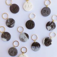DIY Personalized Clay Keychains