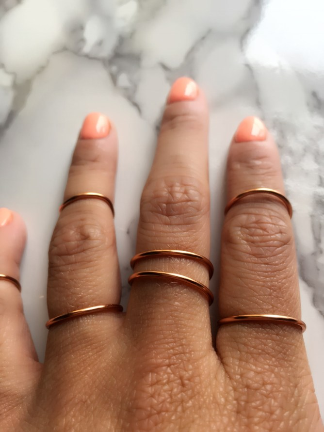 DIY: Minimalist Rings diy