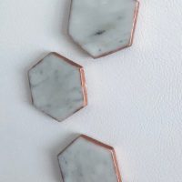 Easy DIY Carrara Marble Magnets