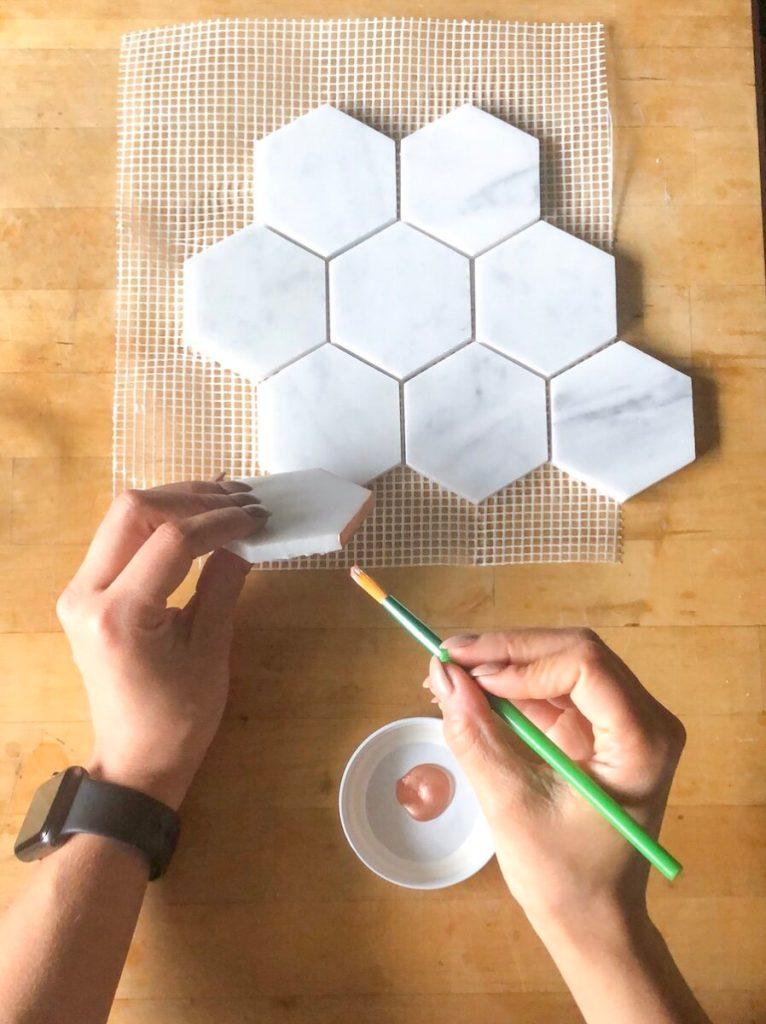 Easy DIY Carrara Marble Magnets rose-gold popular-posts diy
