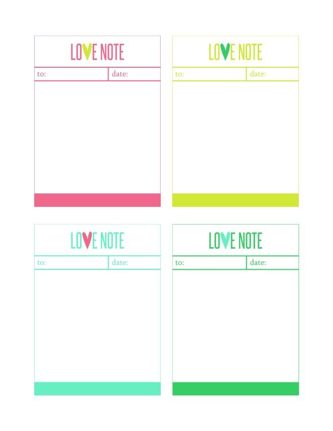 love note sheet 85x11