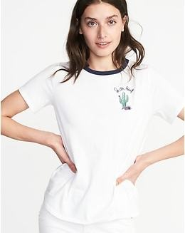 EveryWear Graphic Curved-Hem Tee for Women - So On Point