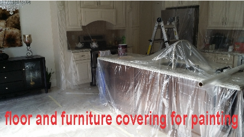 floor and furniture covering for painting