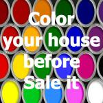 color your house before sale it