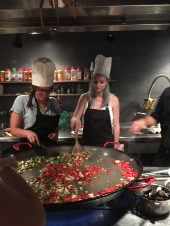 Patricia at a cooking class in Barcelona