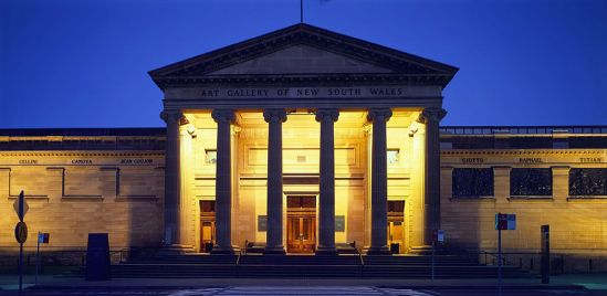New South Wales Art Gallery - night