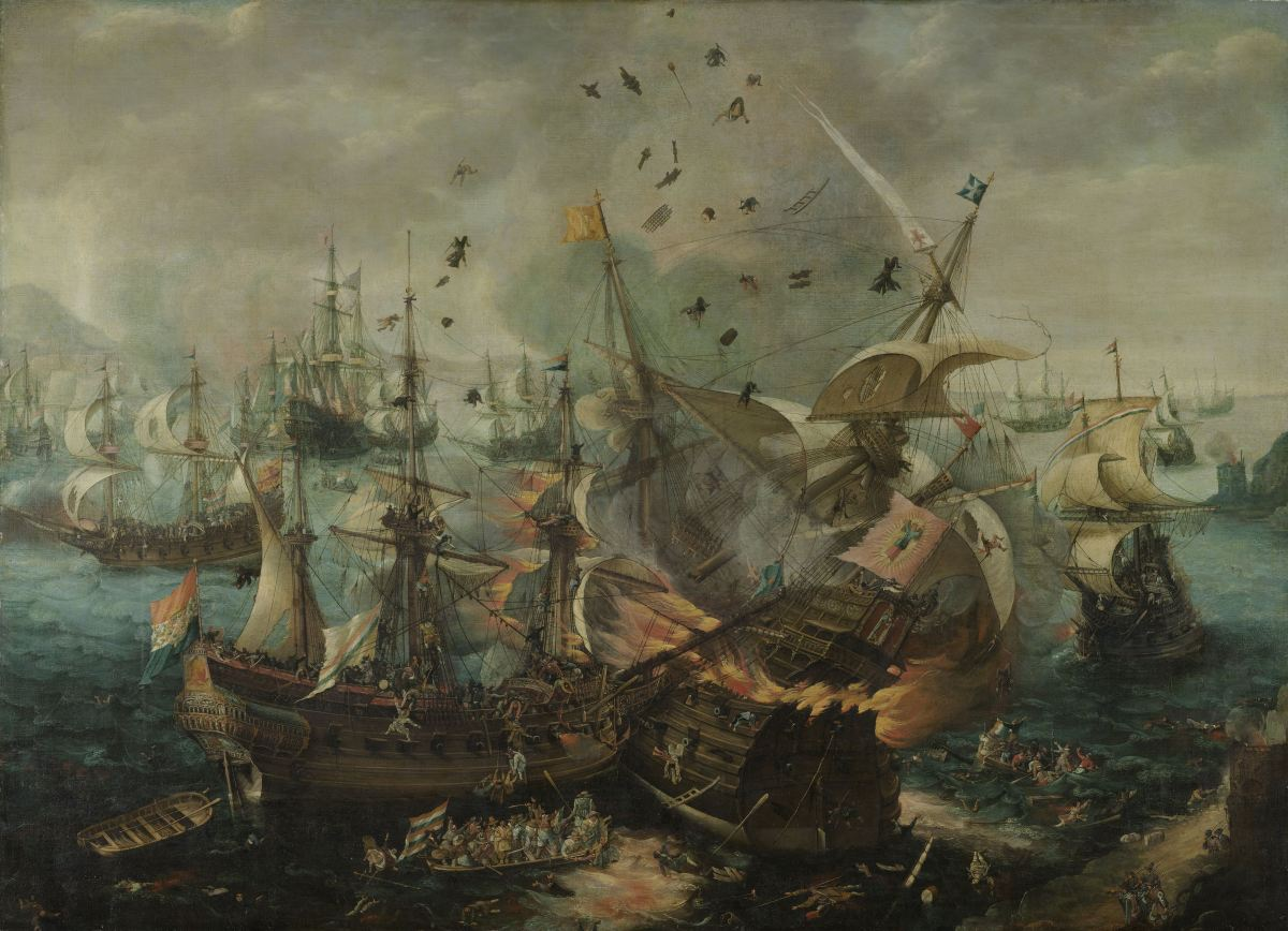 20150503XD-Rijk_ExplosionOdSpanishFlagship_BattleOGibraltar_vanWieringen1621