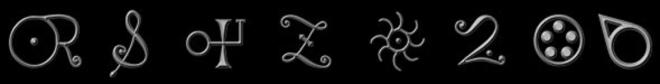 Alchemical symbols for Gold