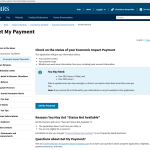 Track your stimulus check status Online through IRS
