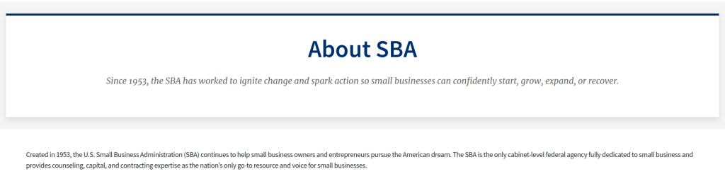 Small business application (SBA)