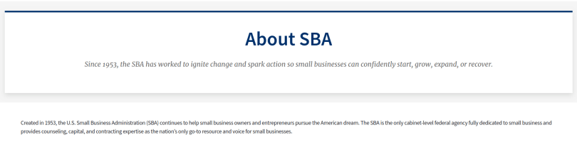Small business application (SBA)