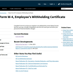Latest Guide on W4 Form 2020