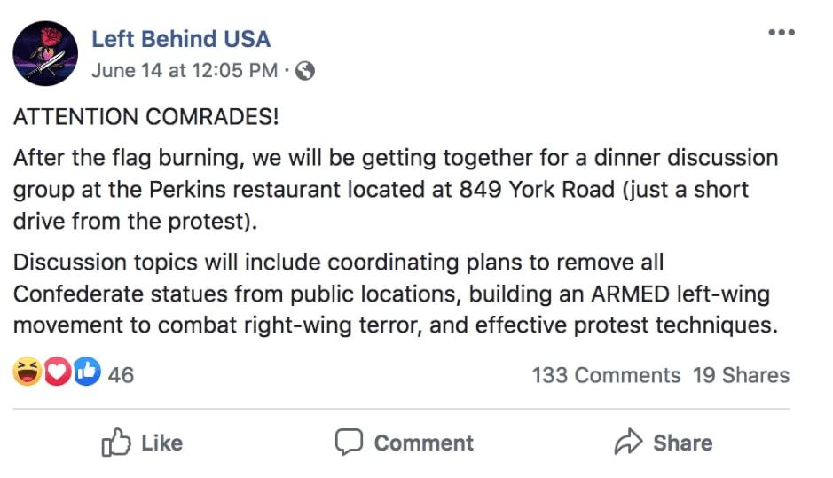Left Behind USA Antifa Threat