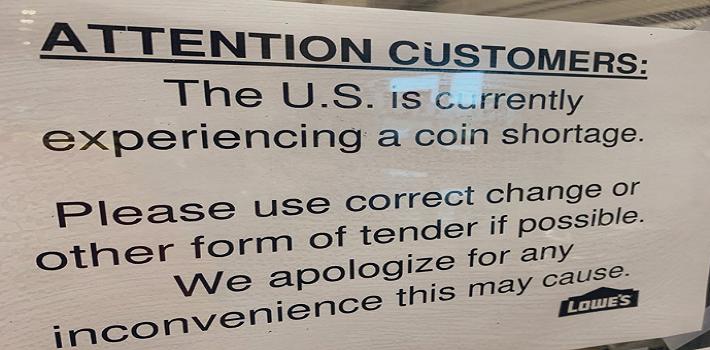 Obrázek spiknutí s nedostatkem mincí