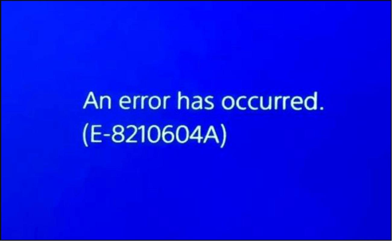 Error E-8210604a