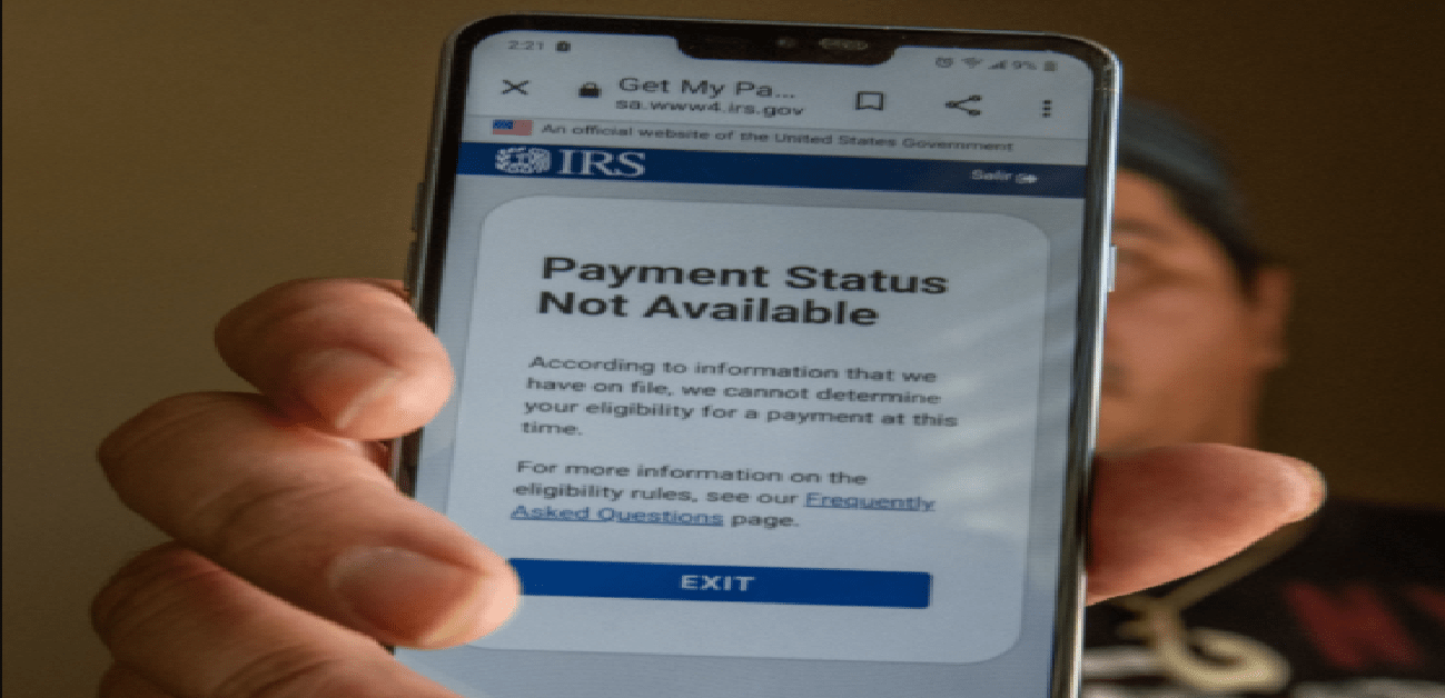 IRS Payment Status Not Available