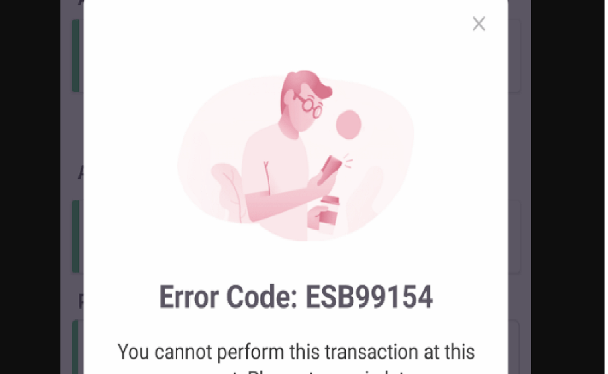 Image of EasyPaisa esb 99154 Error