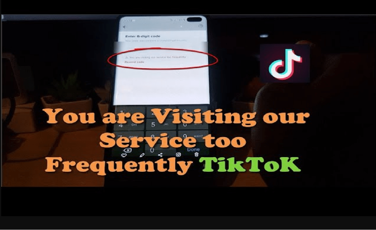 tiktok you are visiting too frequently