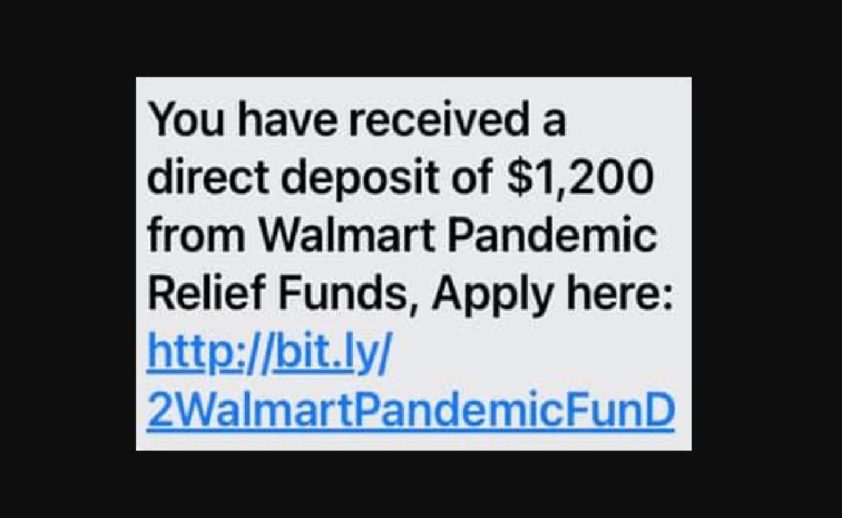 Image of How to Report Walmart Pandemic Relief Scam