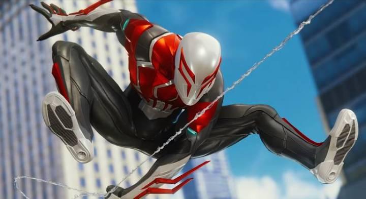 Spider-Man: Veja todos os trajes do jogo do Homem-Aranha - Traje Branco Spider-Man 2099