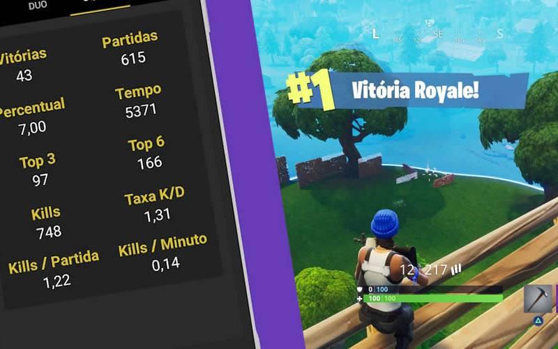Aplicativo mostra seu história no Fortnite. Vitórias, kills e pontuação, confira agora mesmo!