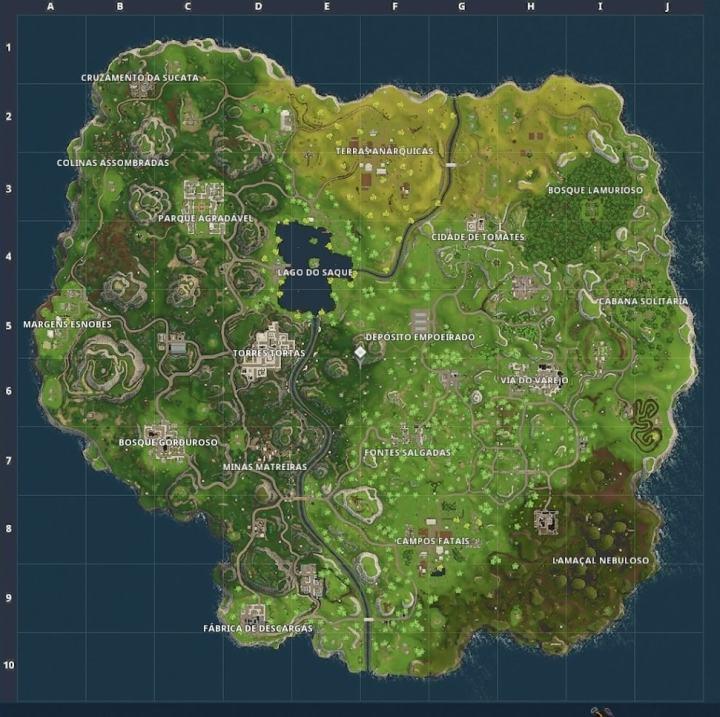 Mapa do Fortnite, conheça os melhores lugares para cair