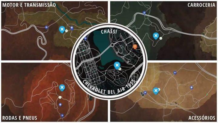 Onde estão os carros abandonados em Need For Speed Payback? Chevrolet Bel Air