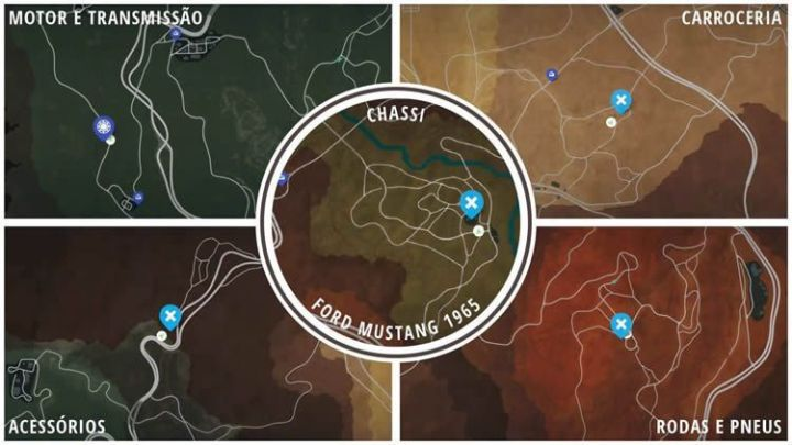 Onde estão os carros abandonados em Need For Speed Payback? Ford Mustang
