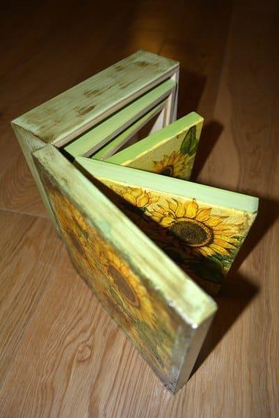Pudełka ze słonecznikami, wersja a'la matrioszka