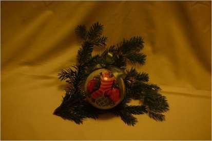 Bombka ze świąteczną skarpetą (wypraną!)