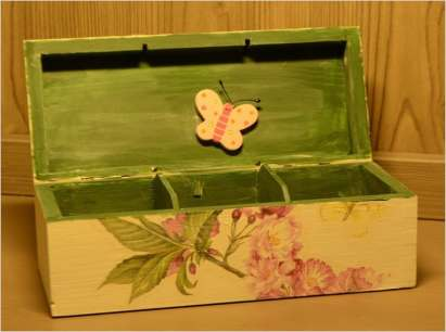 Herbaciarka wiosenna, widok od strony wewnętrznego Motyla.
