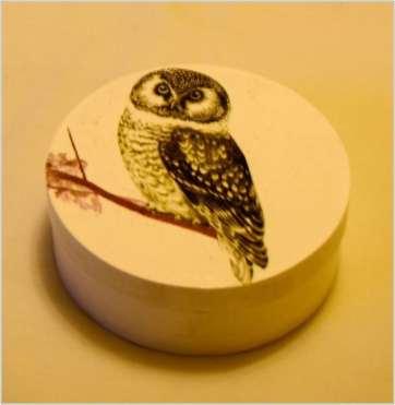 Okrągłe pudełko z Wielkim Ptakiem, średnica 12.5 cm