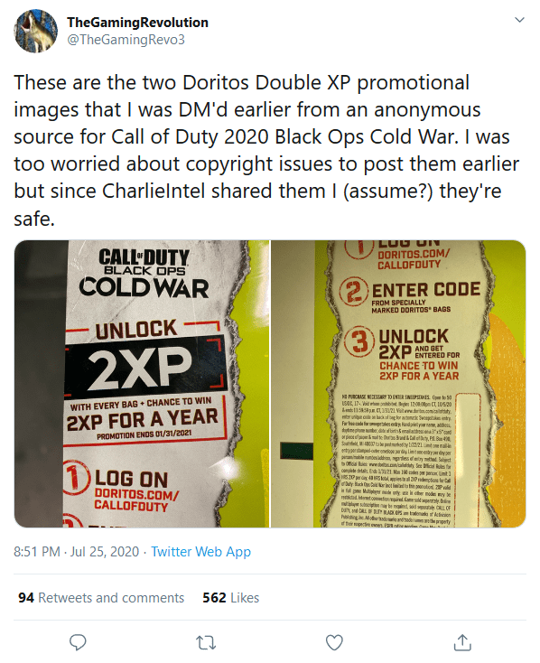 Screenshot_2020-07-26 (1) TheGamingRevolution on Twitter These are the two Doritos Double XP promotional images that I was [...]