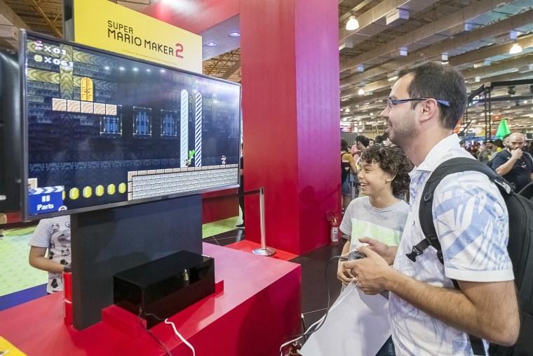 Nintendo's booth at Brasil Game Show 2019.