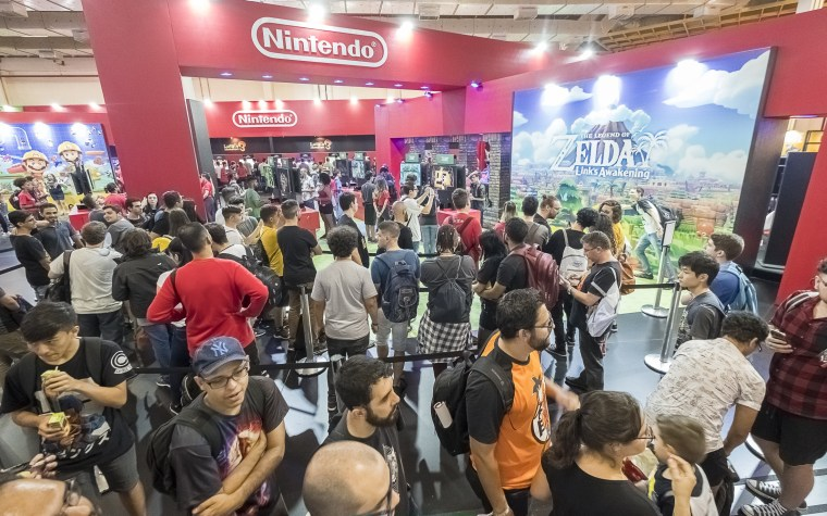 Nintendo's booth at Brazil Game Show 2019.