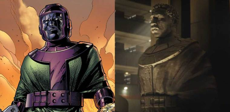 Kang from the comics, and a very Kang-ish version of He Who Remains from Loki.