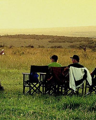 Group Safari Enjoying Sunsets
