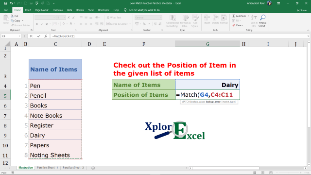 Explanation of Match Function in Excel (4)